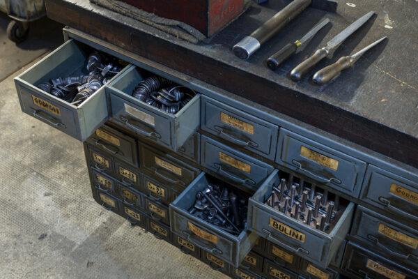 cassetti delle minuterie e degli accessori