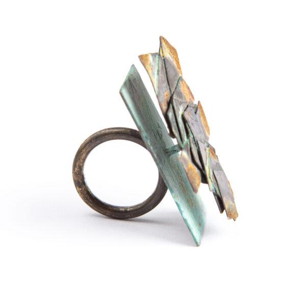 Gigi Mariani, Rust III, ring, 2010, silver, patina